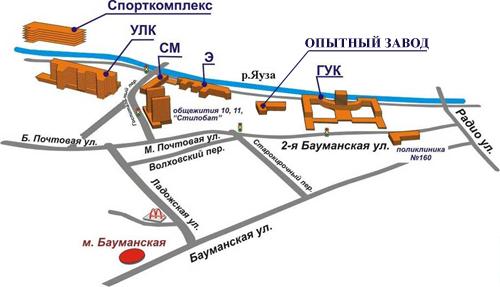 Схема проезда до МГТУ им.